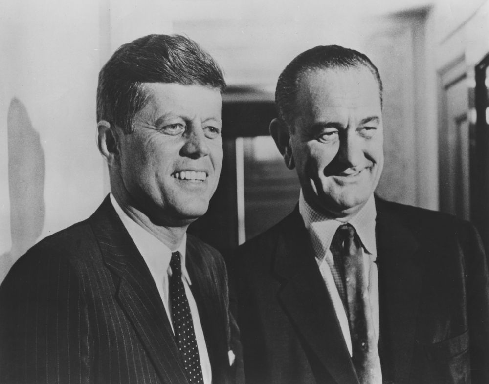 JFK and Lyndon Johnson