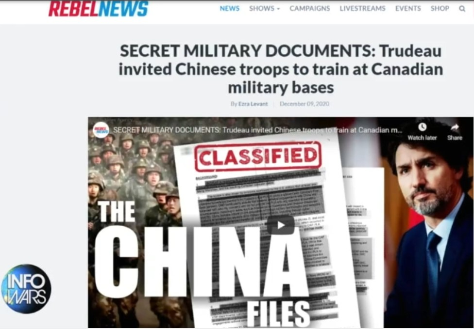 Screenshot 1chinese troops train in canada