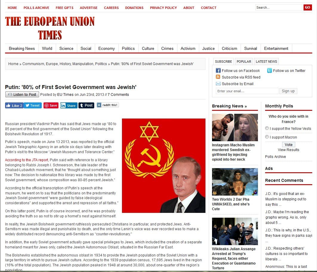 Screenshot 1putin said 805 percent jewish