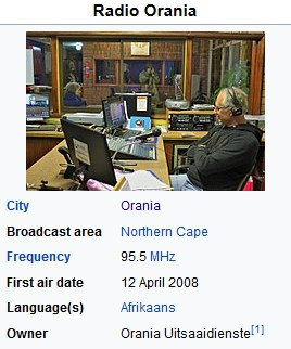 Screenshot 7orania radio