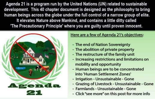 United Nations Agenda 21 Versus Agenda 2030 The Coveners League - Agenda-21-us-map