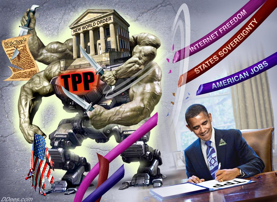 David Dees TPP Agreement Obama
