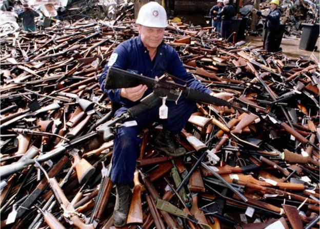 Pile of Guns Confiscated in Australia