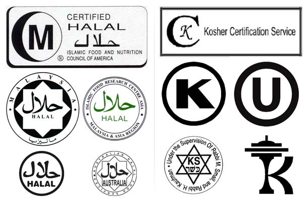 Halal and Kosher Certification Logos