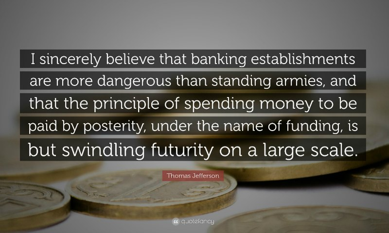 Jefferson Quote on Banking