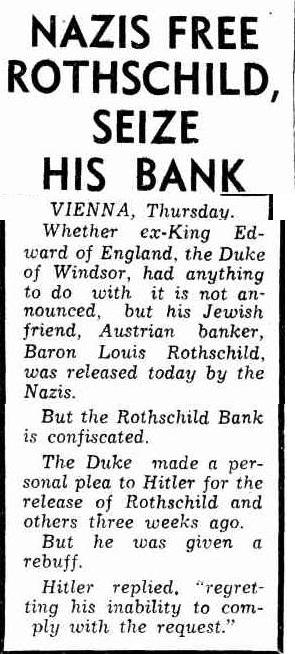 Nazis Seize Rothschild Bank