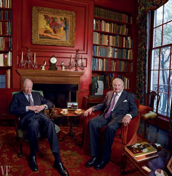 Rothschild and Rockefeller Vanity Fair Photo