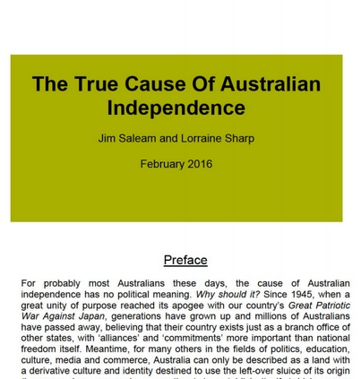True Cause of Australian Independence