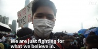 Hong Kong Protesters fighting for what they believe in.